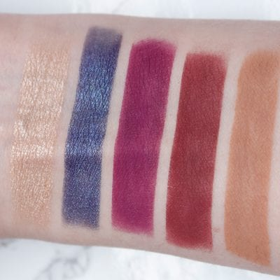 Natasha Denona Mini Lila Palette swatched on fair skin