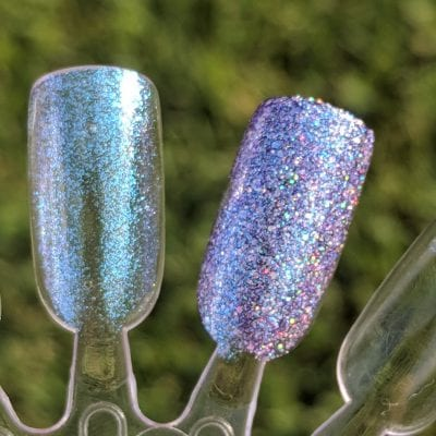 Live Love Polish Spritzer with Sea Siren on top swatches