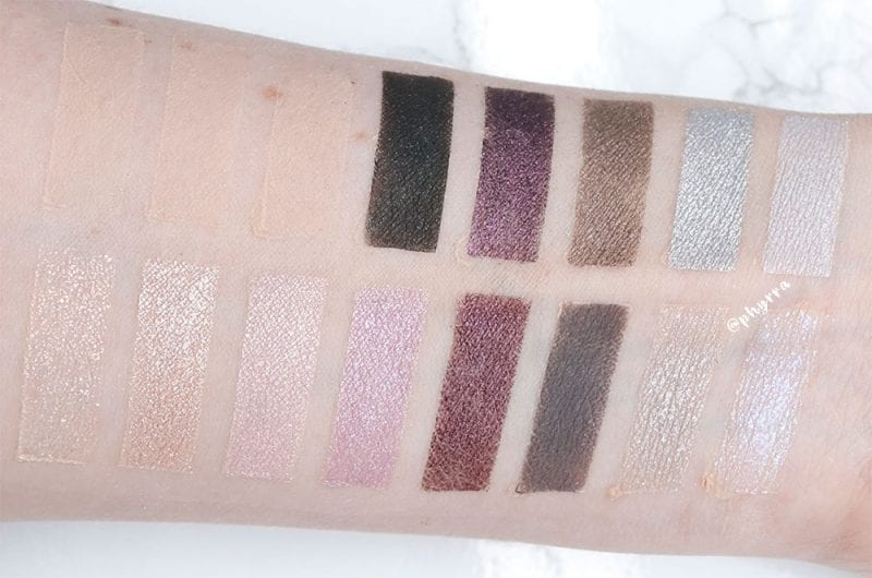 Smashbox Covershot Prism vs. Lunatick Cosmetic Labs Vampira swatches