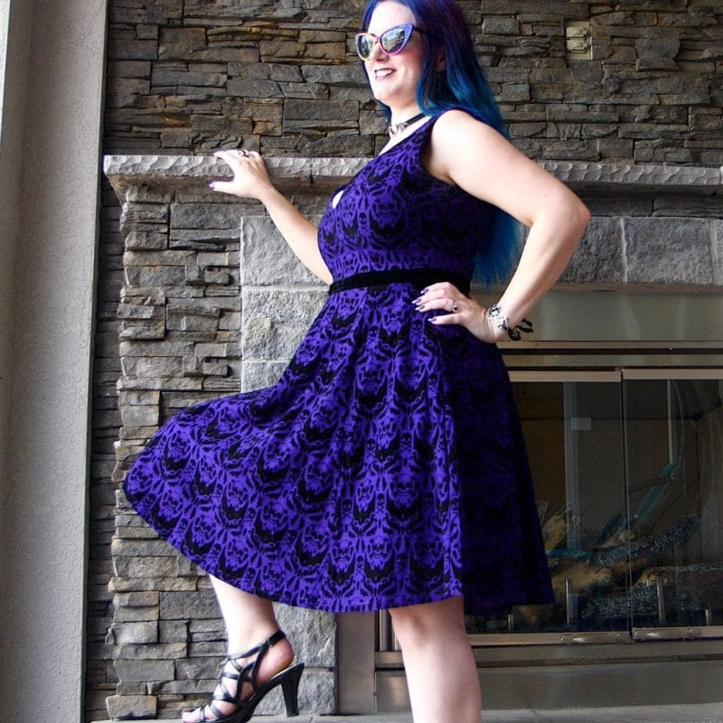 Gothic Clothing Inspiration - Spooky Damask Party Dress
