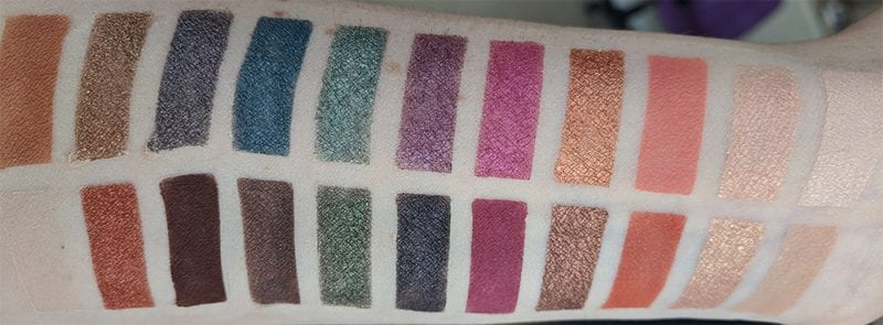 Urban Decay Born to Run Palette Review and Swatches on Fair Skin