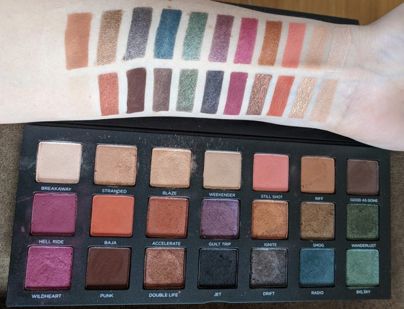 Urban Decay Born to Run Palette Swatches