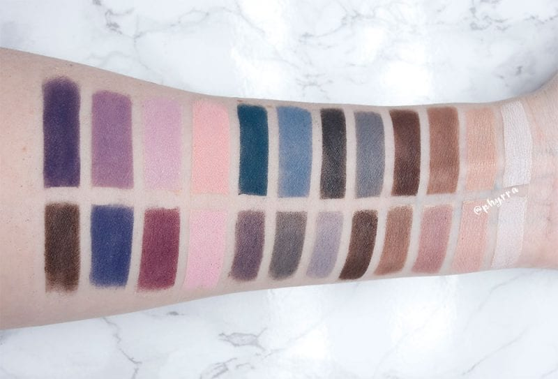 Viseart Cool Mattes 2 vs Cool Mattes 1 swatches