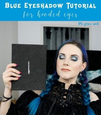 Blue Eyeshadow Tutorial for Hooded Eyes