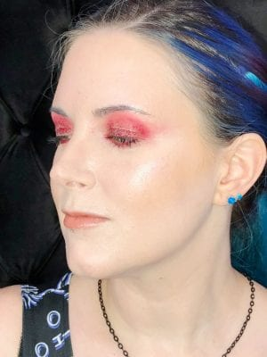 Red Editorial Makeup Look for Hooded Eyes