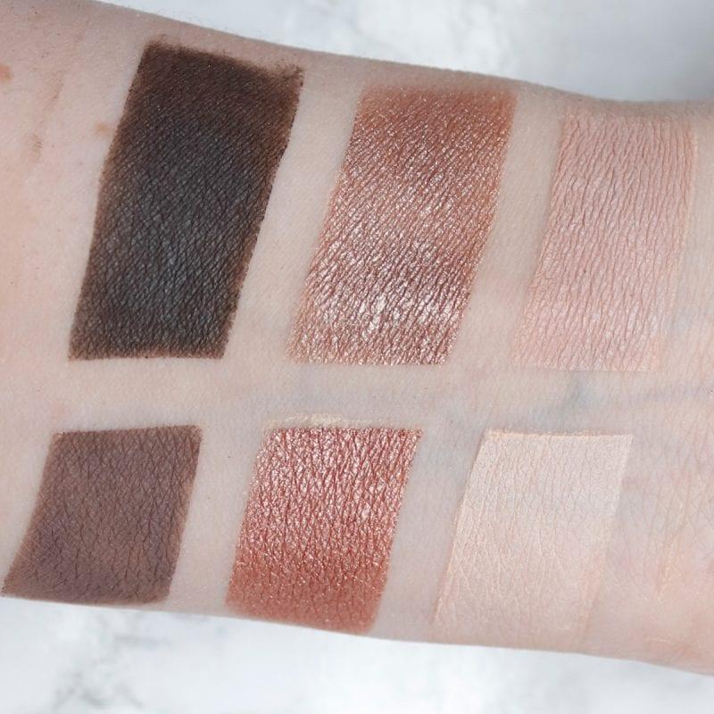 bareMinerals Gen Nude Rose Palette swatches on fair skin