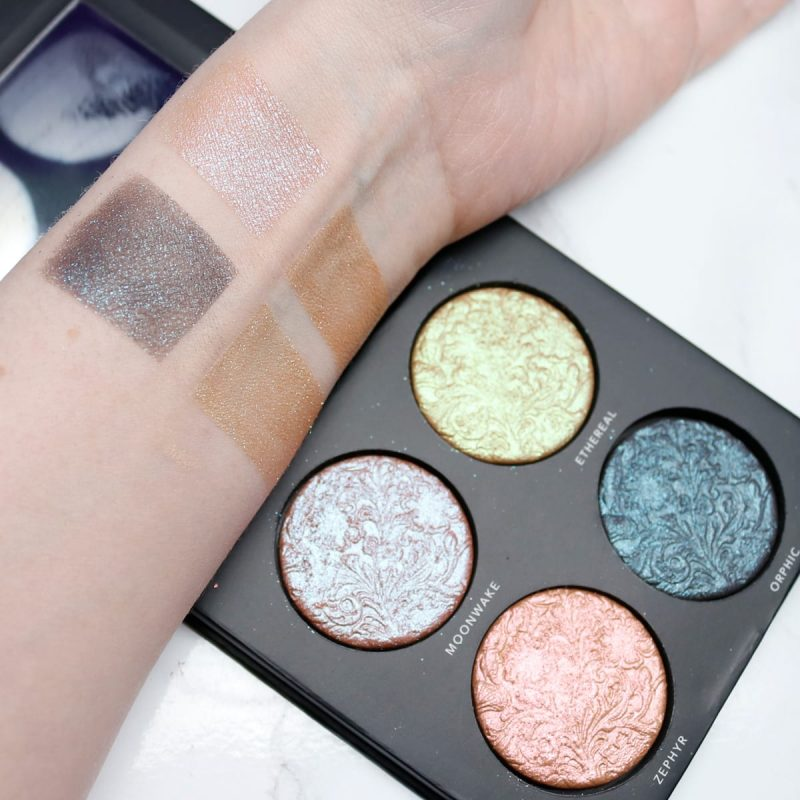 Linda Halberg Enchanted Secrets Palette Review and Swatches on Pale Skin