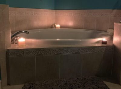 How to Have a Home Spa Day During the Holidays - relaxing bath