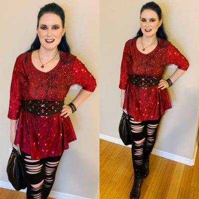 Burgundy & Black Outfit