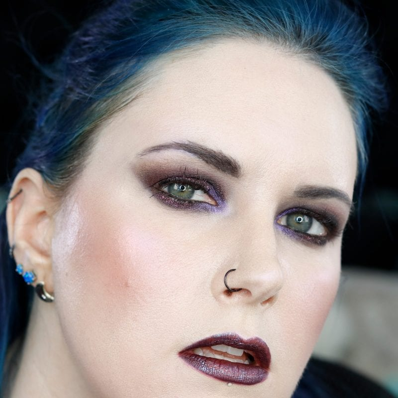 Burgundy Smokey Eyes
