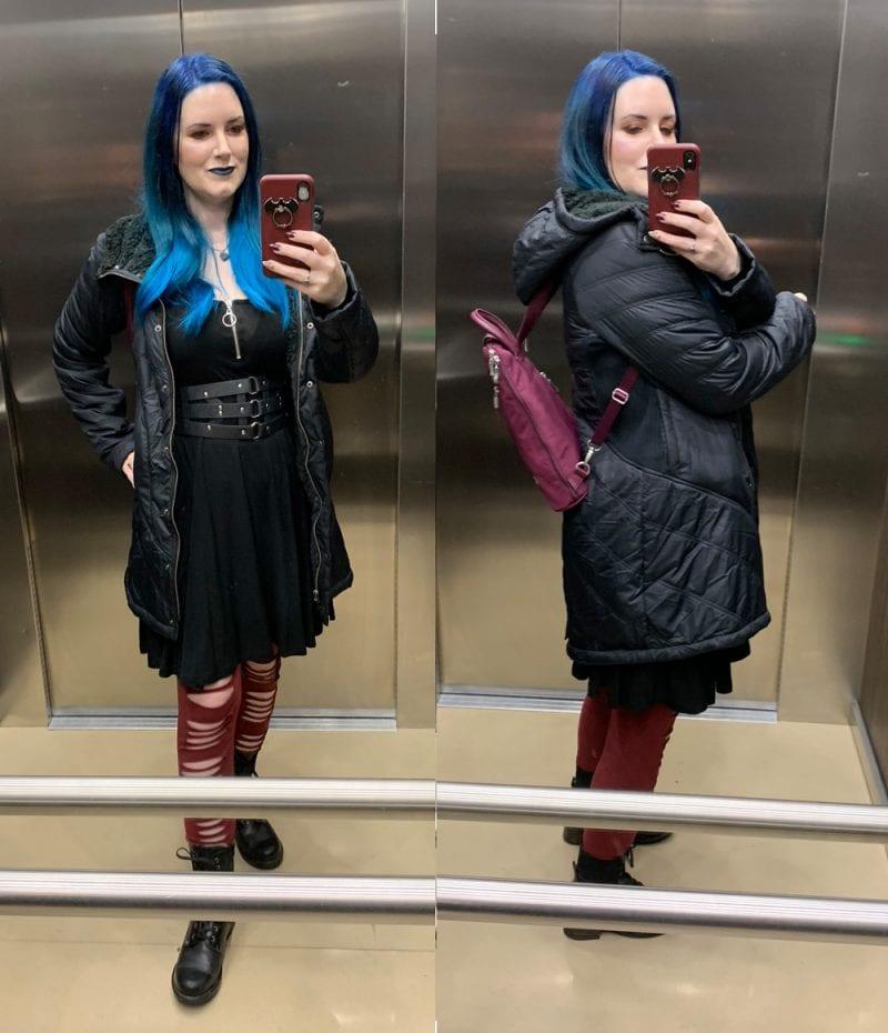 PrAna Diva Long Jacket and Baggallini Backpack
