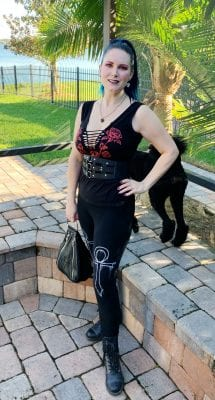 Wearing Bunny Paige Spiked Heart Earrings