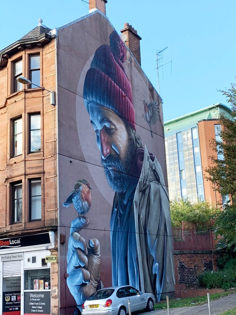 Graffiti around Glasgow Scotland