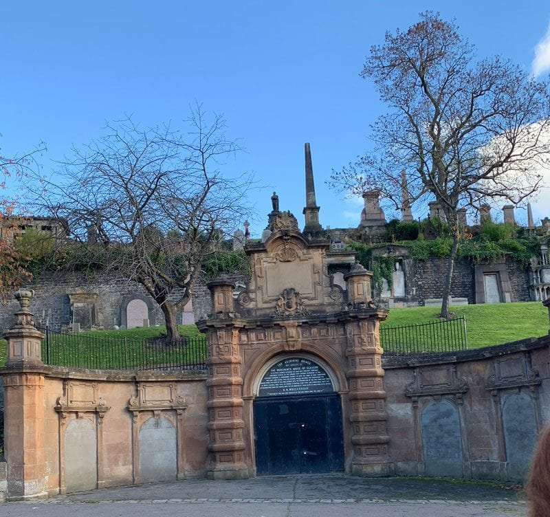 Necropolis Cemetery in Glasgow Scotland