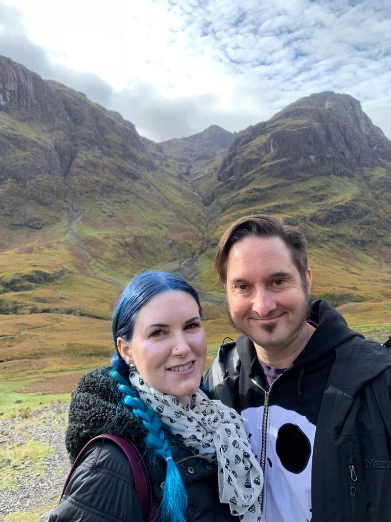 Courtney and Ray in the Highlands of Scotland
