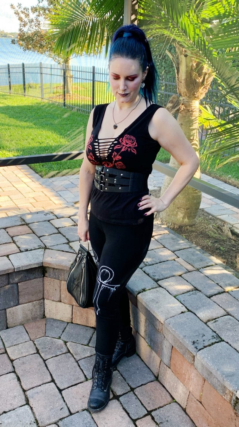 Wearing Widow Ever After Ankh Leggings