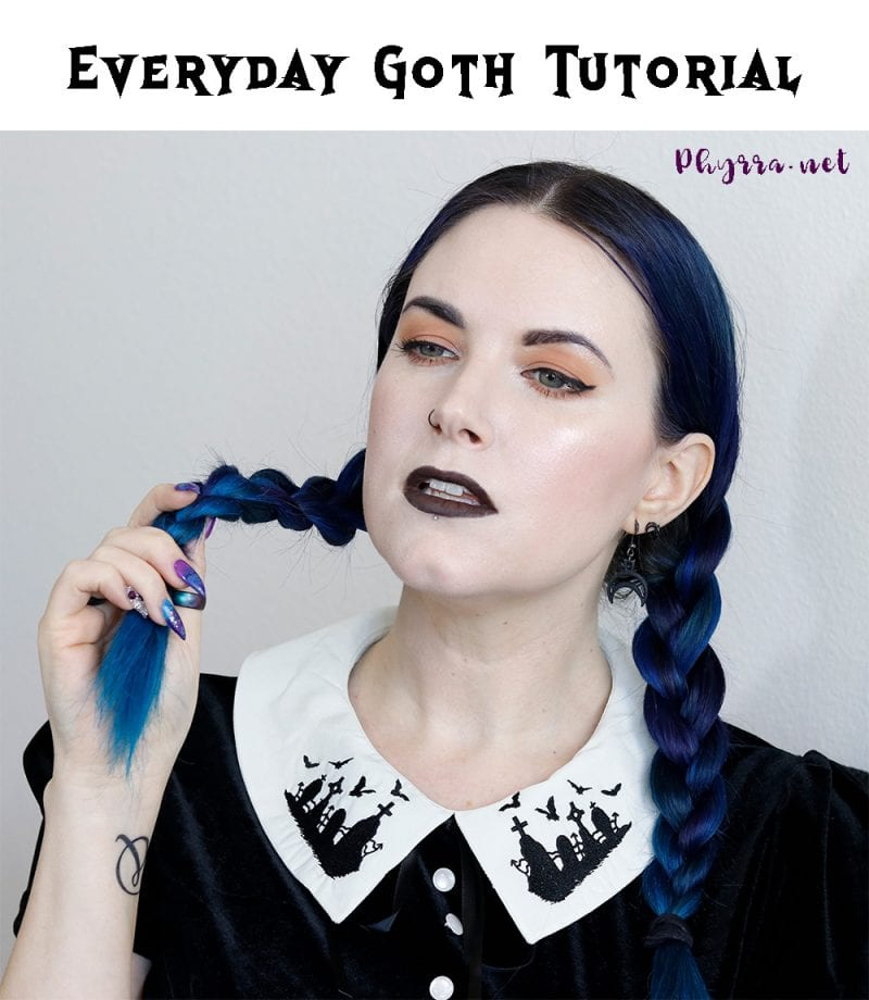 Everyday Gothic Makeup & Hair Tutorial