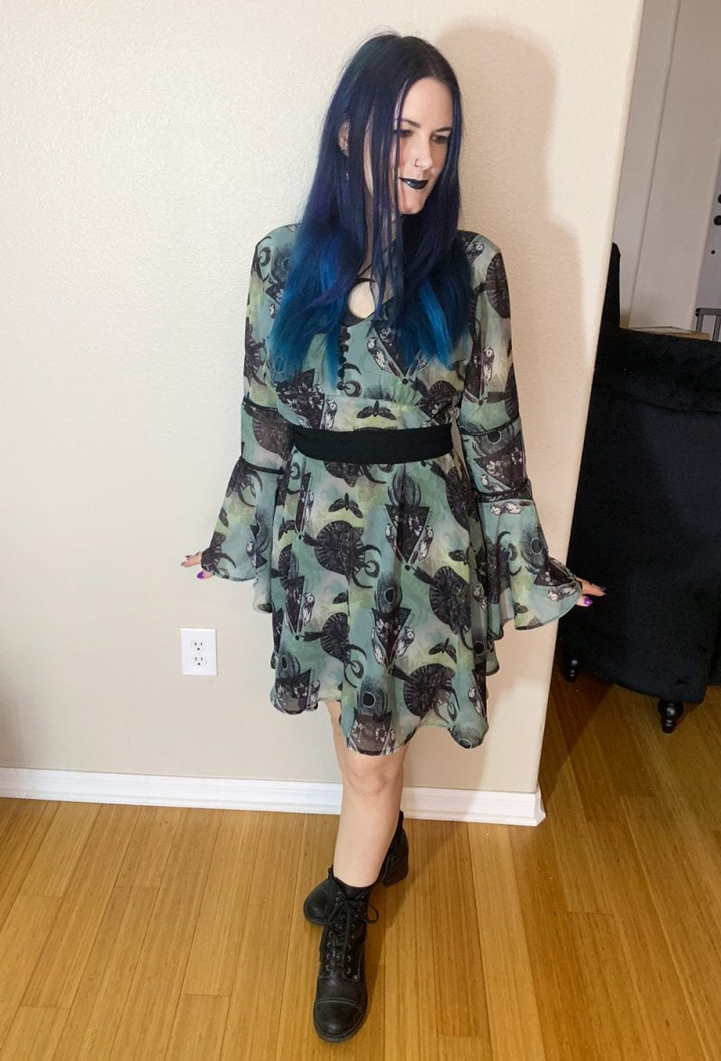 Green Teal Witch Dress