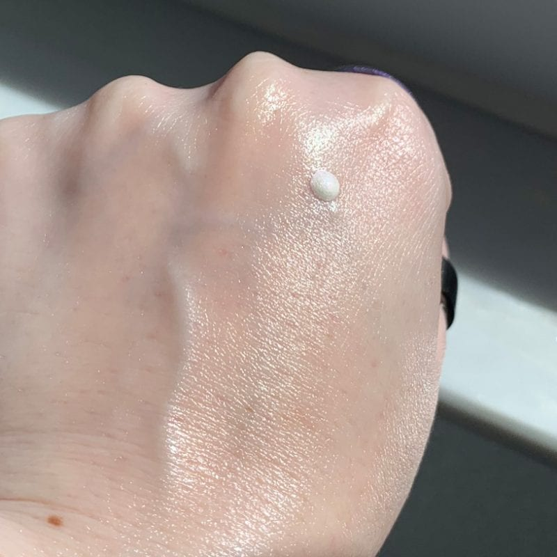 Danessa Myricks Prism FX Hydrating Lotion dot on the back of my hand