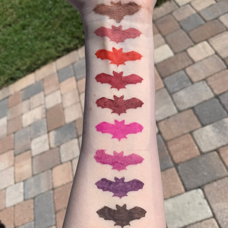 Lime Crime Plushies Soft Focus Matte Lipsticks Swatches on Fair Skin