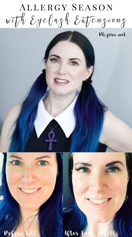 Eyelash Extensions and Allergy Season