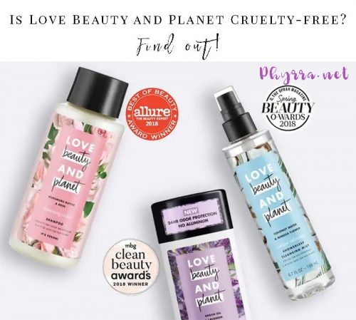 Is Love Beauty and Planet Cruelty-free?