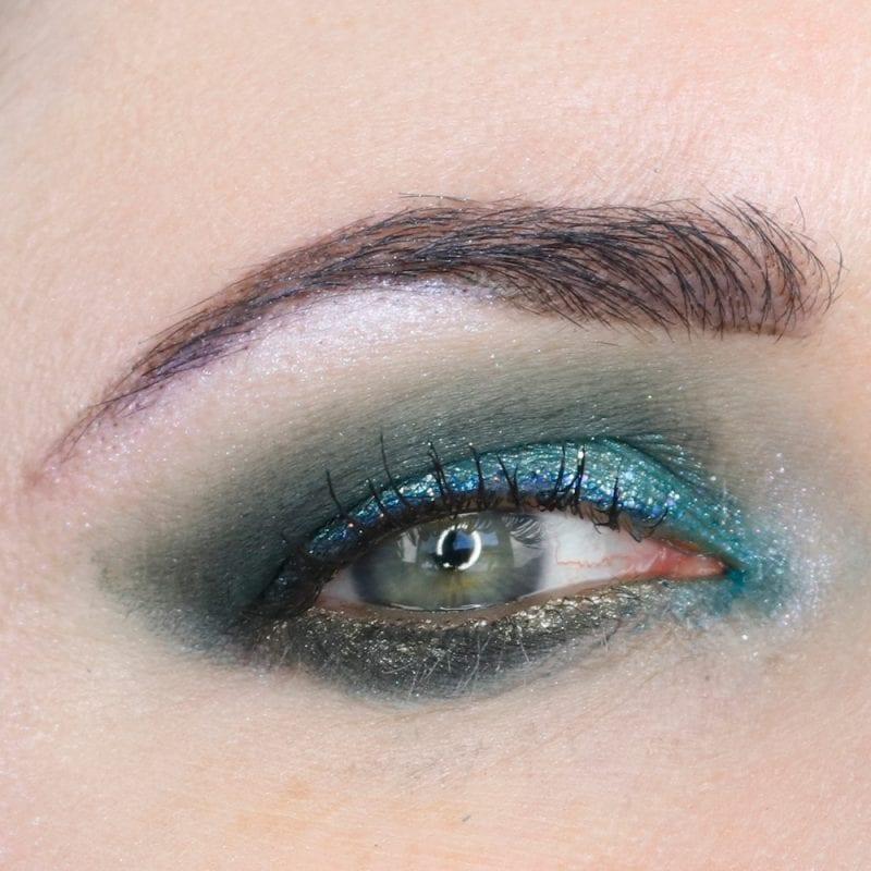 Melt Space Queen, Saucebox Meadow and Lime Crime Dragon eyeshadows