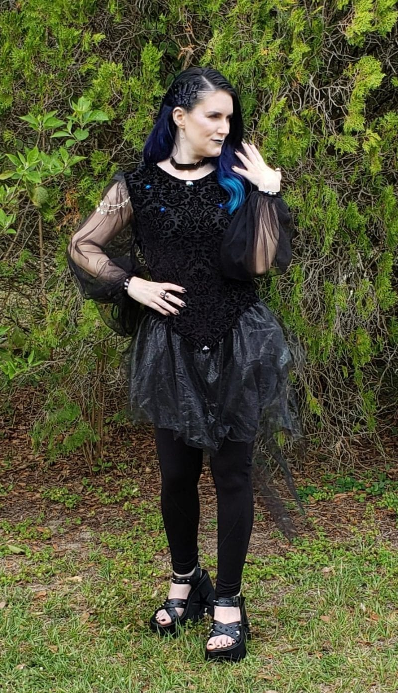 Spellbound Stitches Black Gothic Fantasy Top