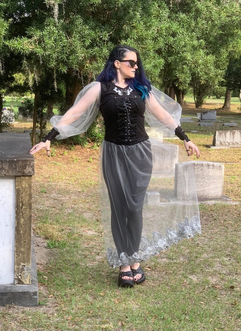 Spellbound Stitches Silver Fantasy Top & Skirt