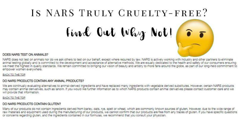 Is NARS Cruelty-free?