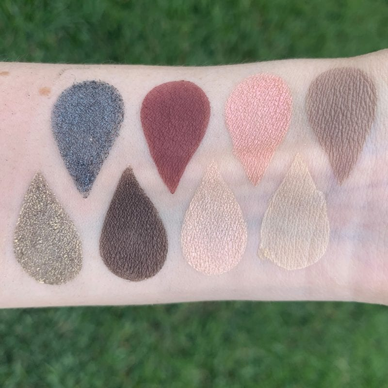 Smashbox Crystalized Cover Shot Palette Swatches on Fair Skin