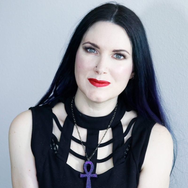 Courtney is wearing Smashbox Maneater Liquid Lipstick