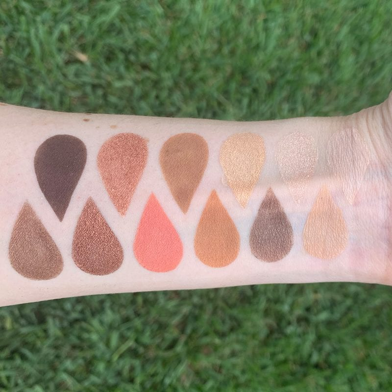 Urban Decay Naked Reloaded Palette Swatched on Fair Skin