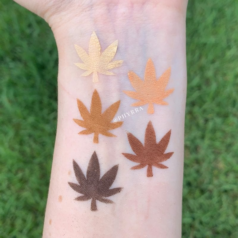 Melt Rust Stack Swatches on Fair Skin