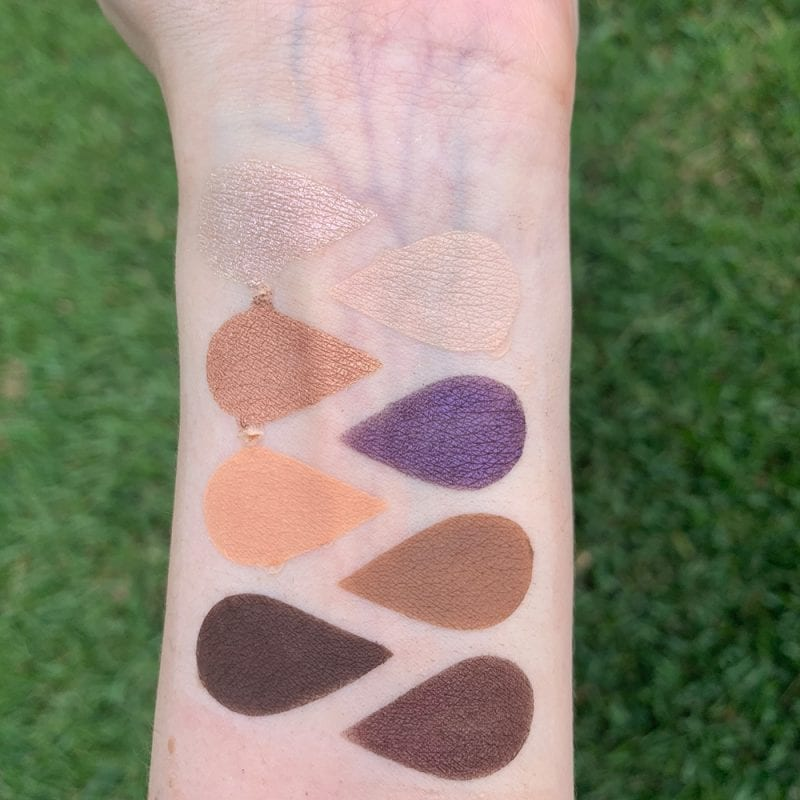 Urban Decay On the Run Bailout Mini Palette Review swatched on Pale Skin