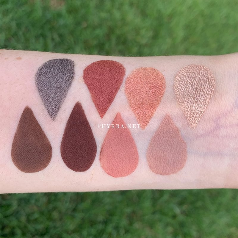 Urban Decay On the Run Shortcut Mini Palette Review swatched on Fair Skin