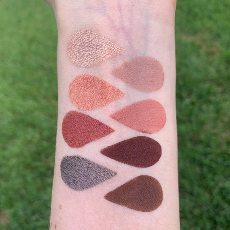 Urban Decay On the Run Shortcut Mini Palette Review swatched on Pale Skin