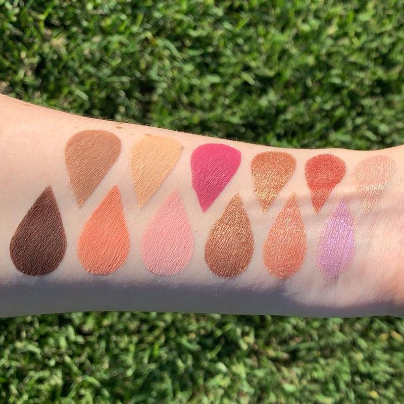 Viseart Rosé EDIT Eyeshadow Palette swatches on fair skin