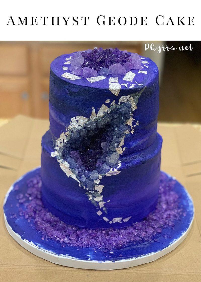 Amethyst Geode Cake
