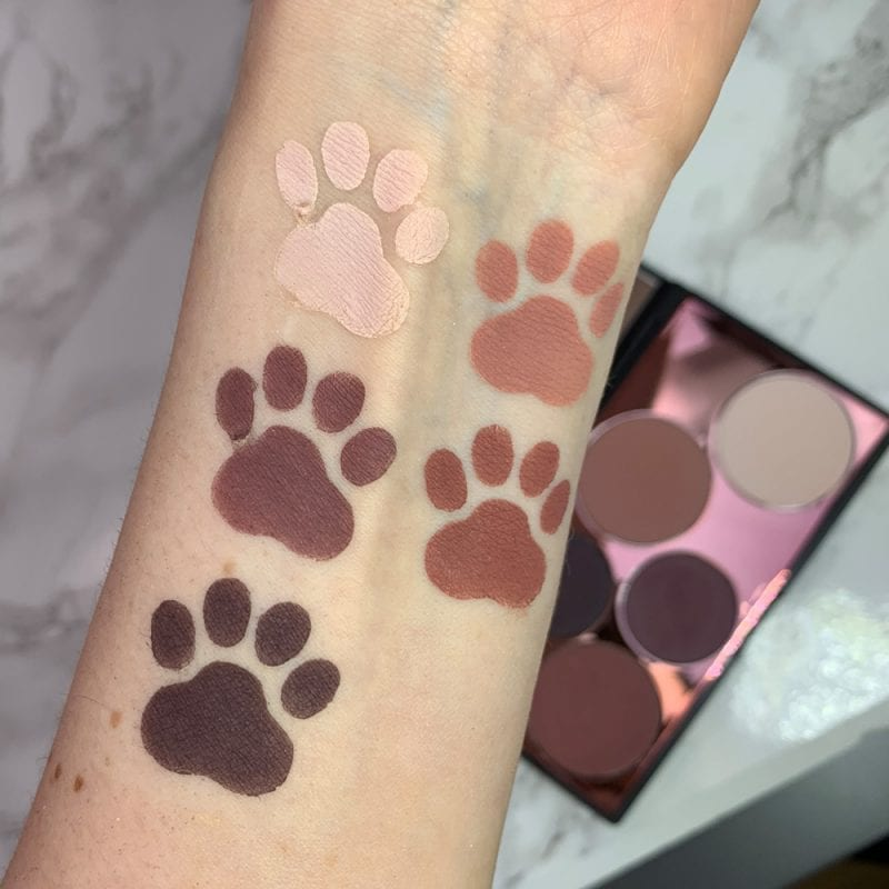 Elcie Cosmetics Minimalist Mauves Eyeshadow Palette Swatches on Fair Skin
