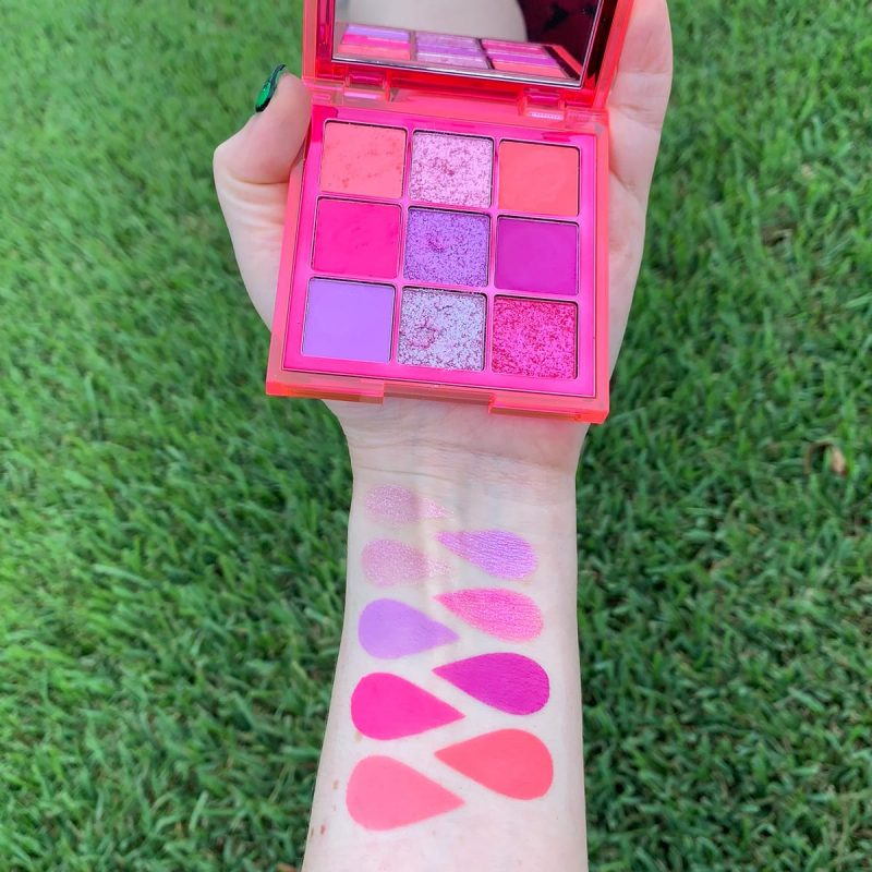 Huda Beauty Neon Obsessions Pink Palette swatches and review