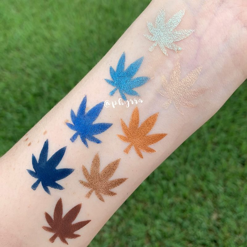 Melt Cosmetics Blueprint Stack Swatches on Fair Skin
