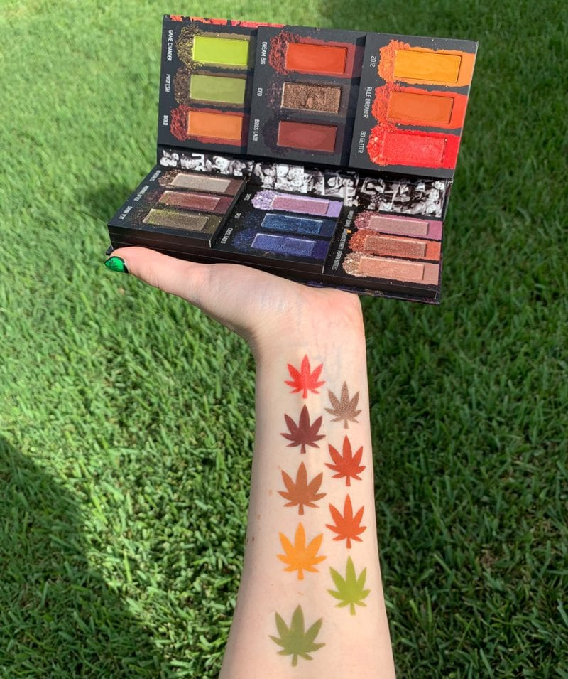 Melt Cosmetics Impulsive Palette Swatches on Fair Skin