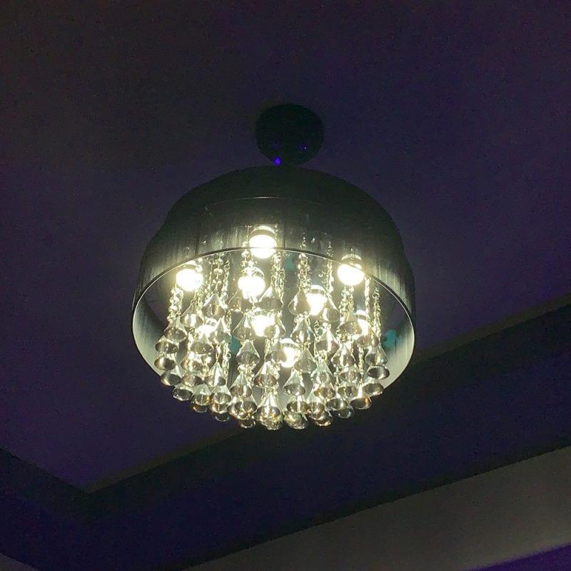 Modern Gothic Chandelier Light & Ceiling Fan