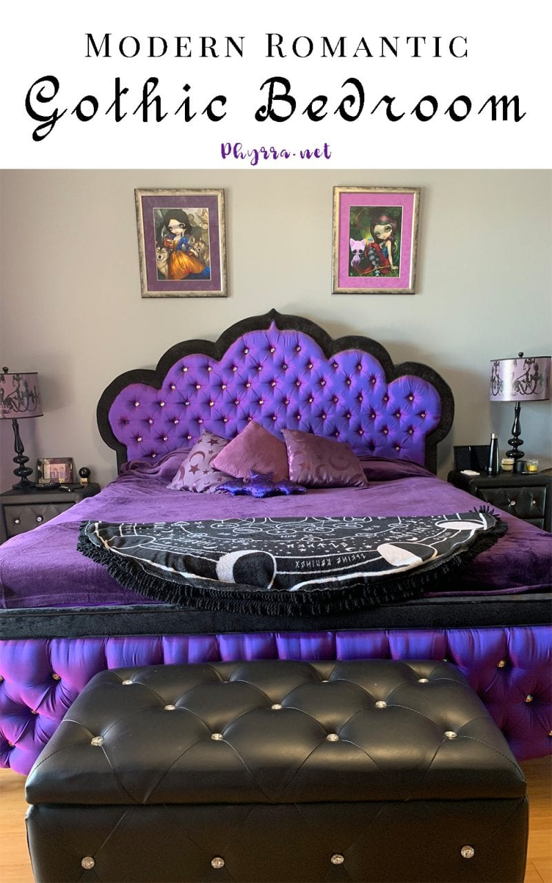remarkable purple gothic bedroom | Modern Romantic Gothic Bedroom - My Sanctuary and Sacred Space