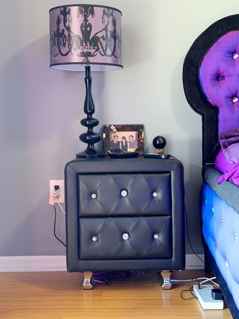 Gothic Night Stand and Lamp