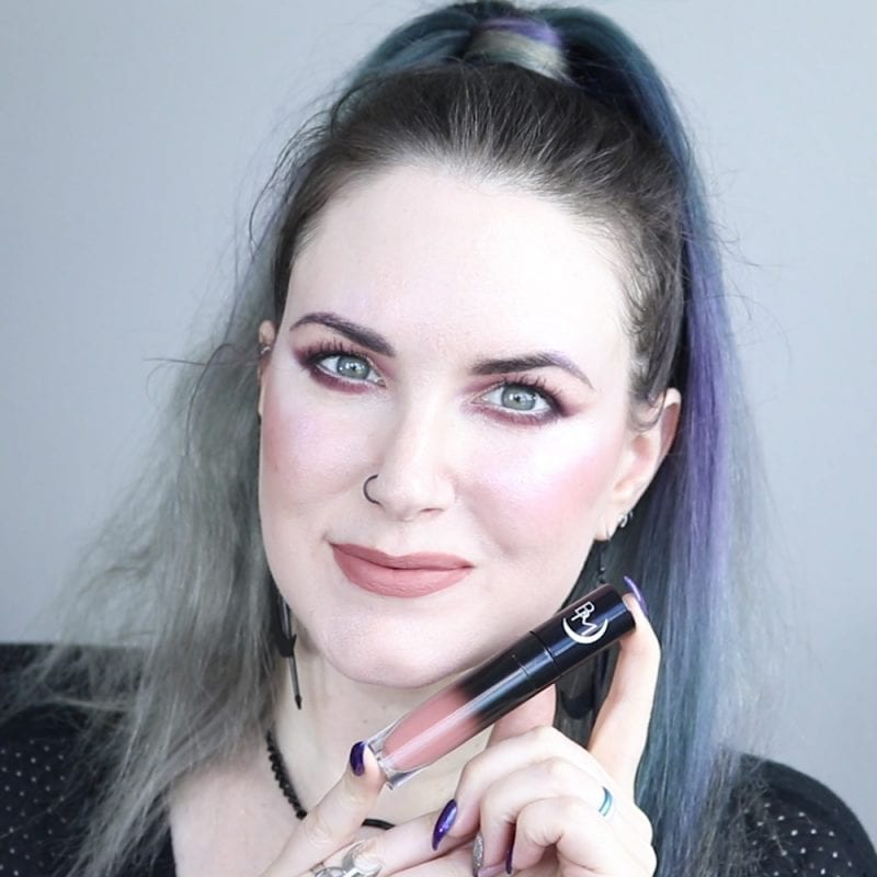 Black Moon Libra / Warrior Liquid Lipstick swatched on fair skin
