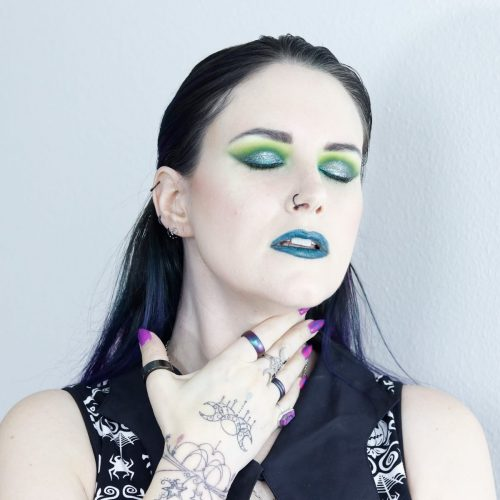 Bright Lime Green Teal Smokey Eye Tutorial for Hooded Eyes
