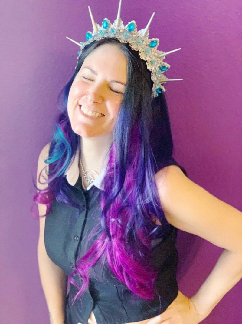 Pravana Vivids Violet, Blue & Wild Orchid hair