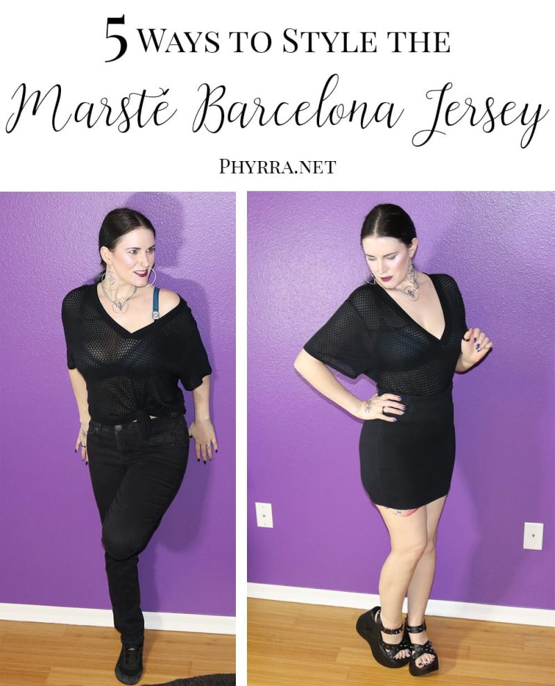 How to Style the Marsté Barcelona Jersey: Courtney brings you 5 different ways to style this fair trade sustainable fashion top. #gothicfashion #athleisure